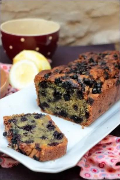 cake aux myrtilles citron et amandes