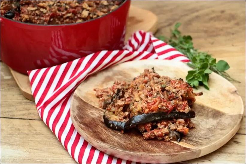 gratin d'aubergines façon moussaka de Laurent Mariotte