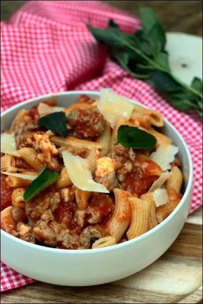macaroni ragout tomate lignac