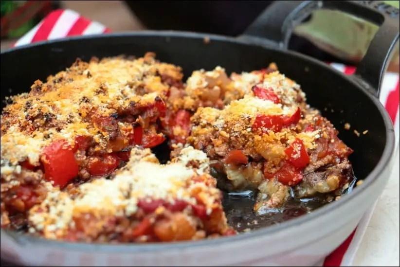 aubergines farcies à la viande hachée
