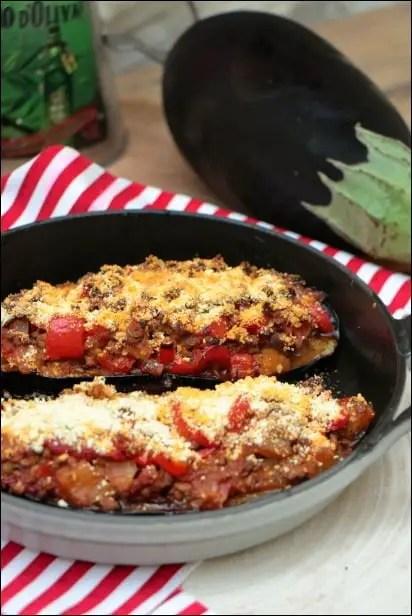 recette d'aubergines farcies à la viande hachée