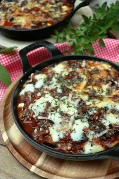 gratin d'aubergine mozzarella parmesan