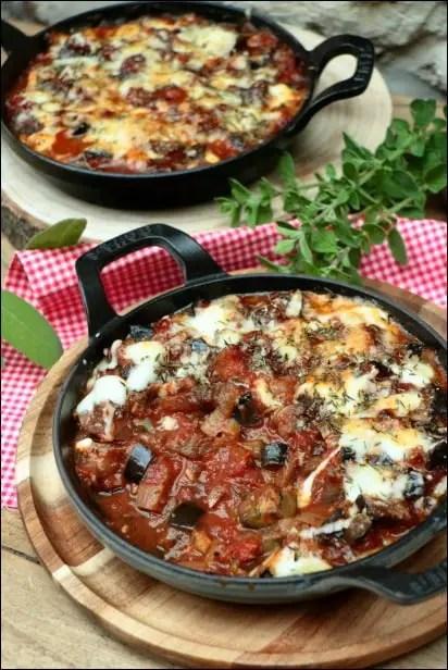 gratin aubergine a l'italienne