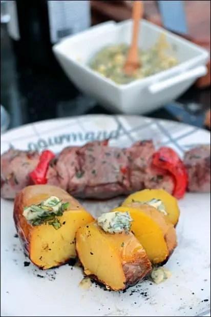 pomme de terre braise au barbecue