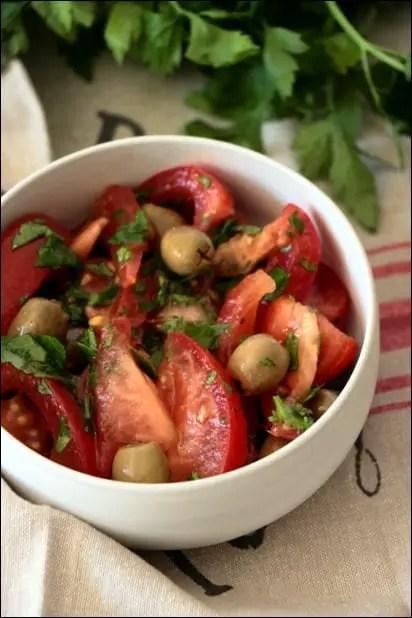 salade de tomate simple