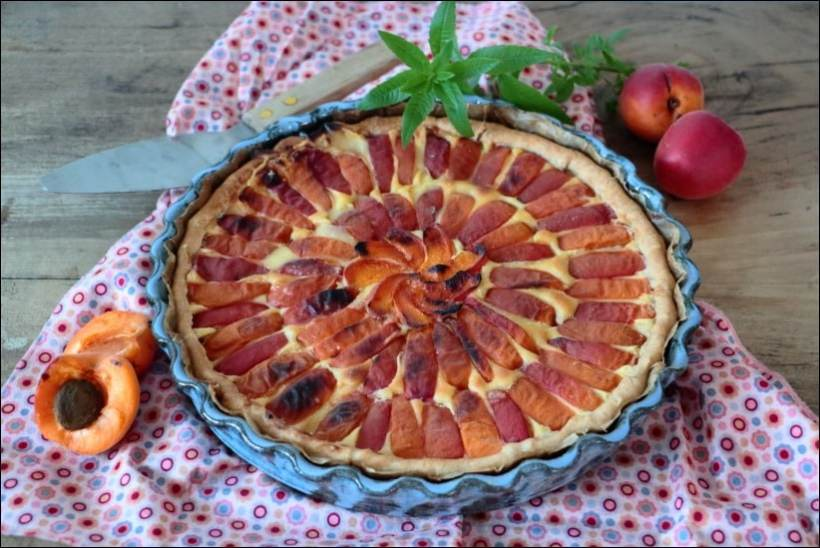 tarte abricot creme patissiere