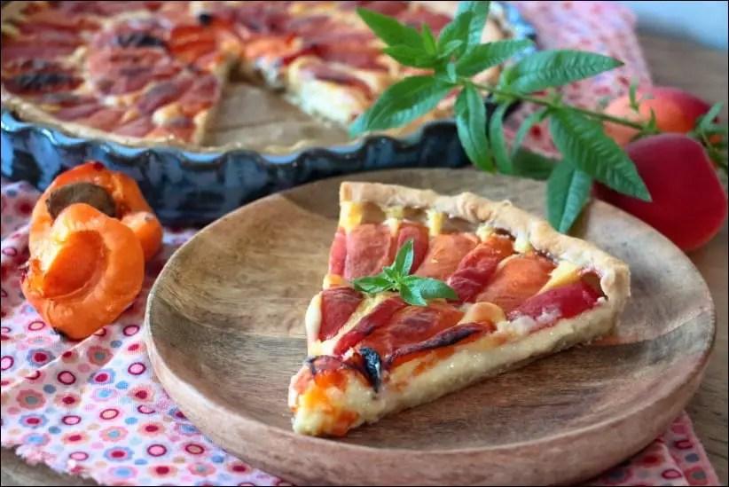 tarte abricots et verveine