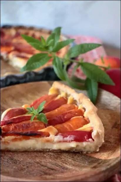 tarte abricot verveine