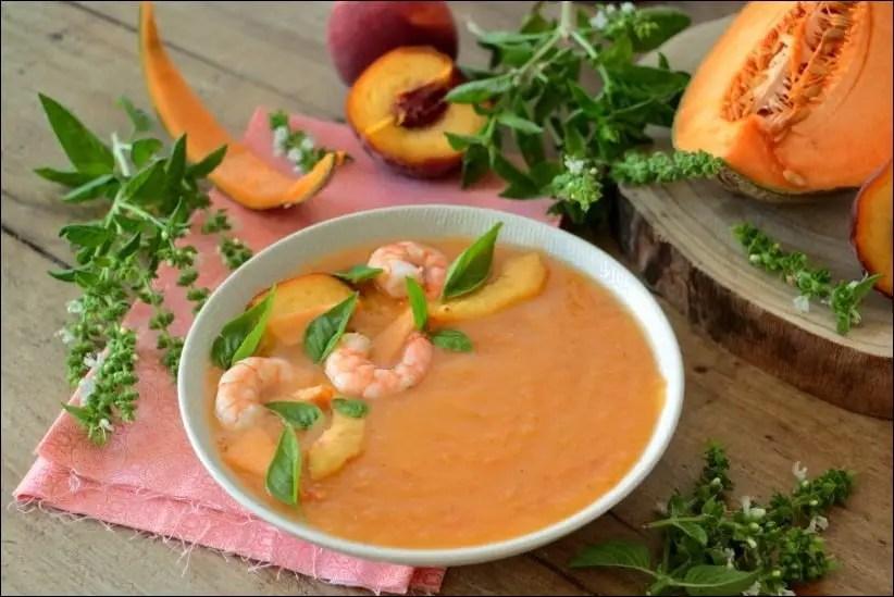 soupe froide melon tomate basilic
