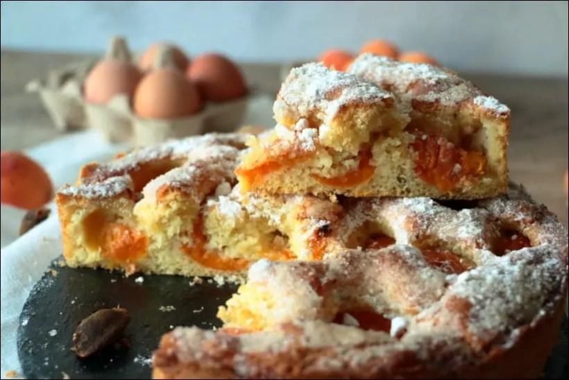 gateau abricot frais