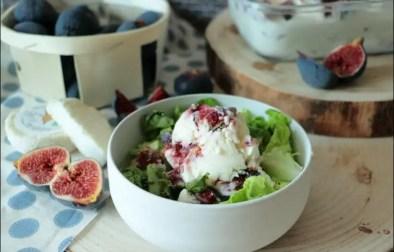 glace au chèvre frais figues et romarin