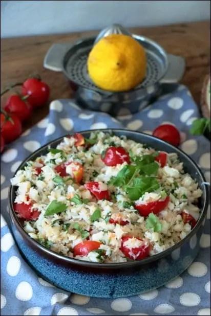 salade avec cabillaud froid