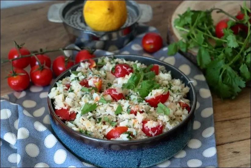 salade froide dos de cabillaud