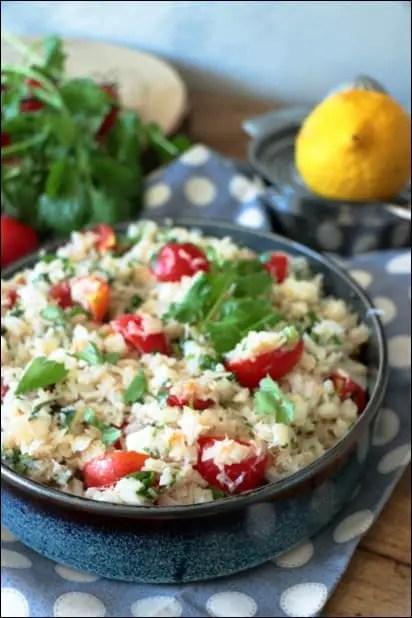 salade avec poisson cuit