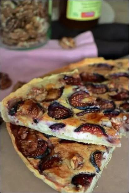 tarte figue fraiche chevre noix