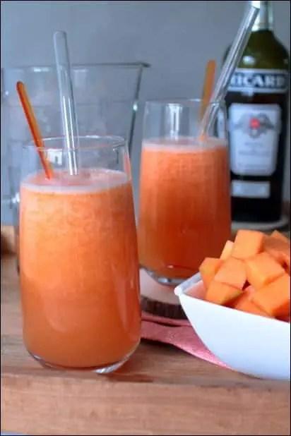cocktail au melon et au pastis
