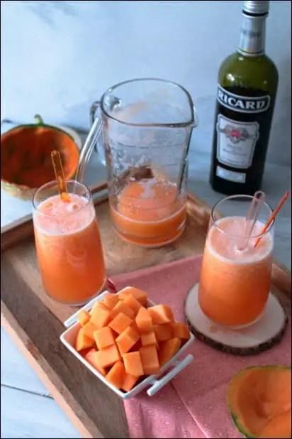 cocktail de melon avec alcool