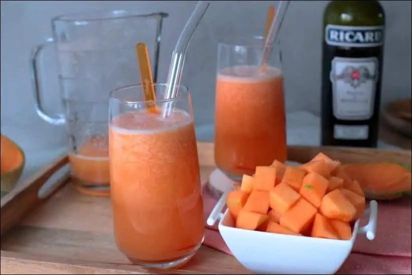 cocktail a base de melon frais