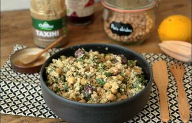 salade de pois chiches et boulgour sauce tahini