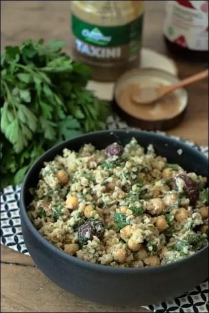 salade pois chiches et couscous