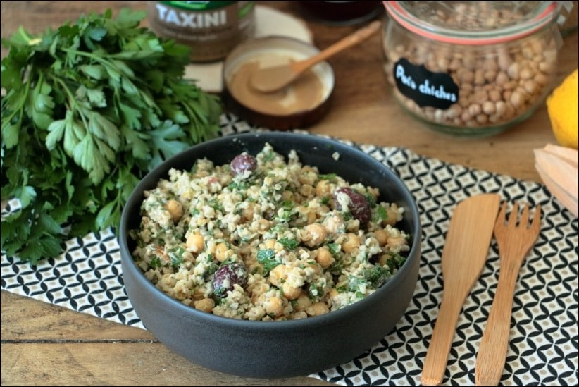 salade pois chiches poulet orientale