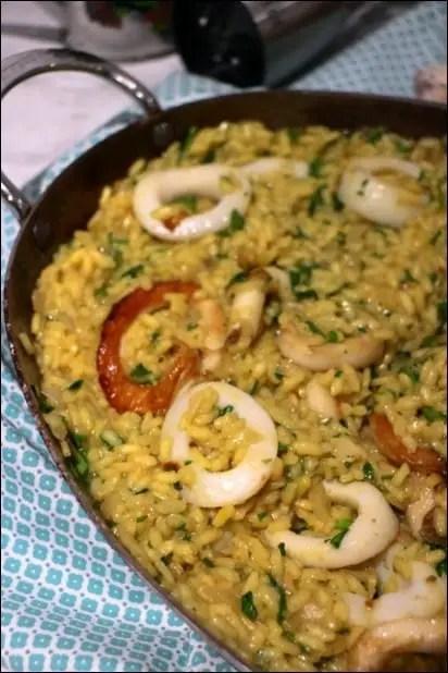 riz calamar façon risotto