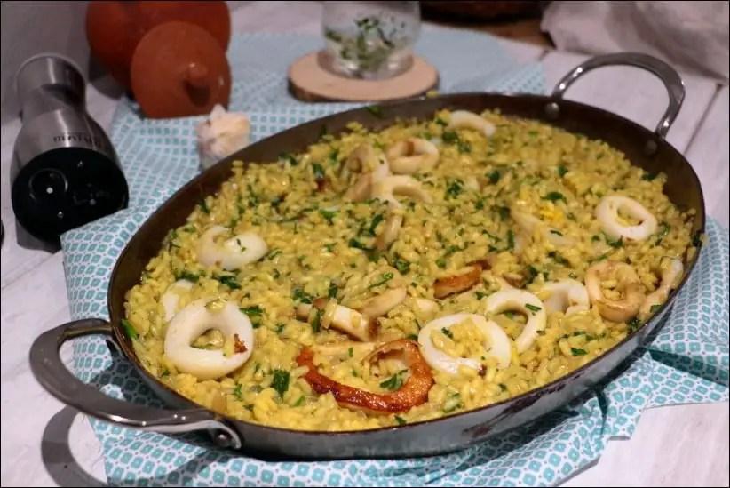 riz safrané aux calamars