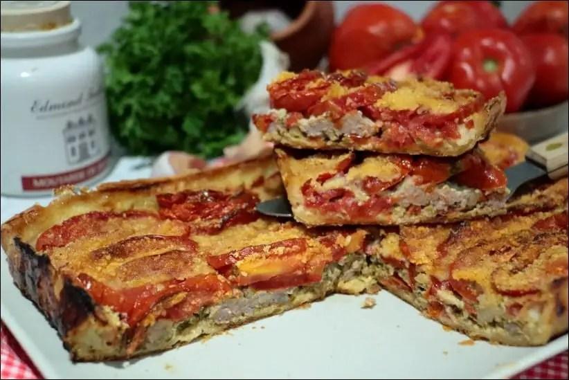 tarte tomate viande
