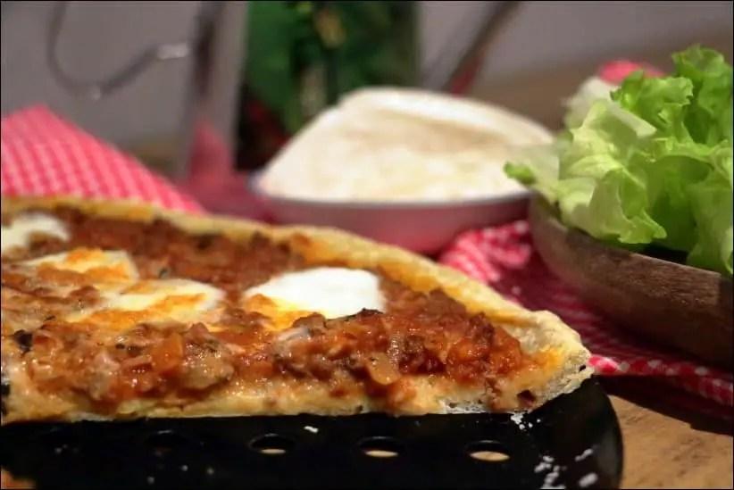pizza viande hachée tomate mozza