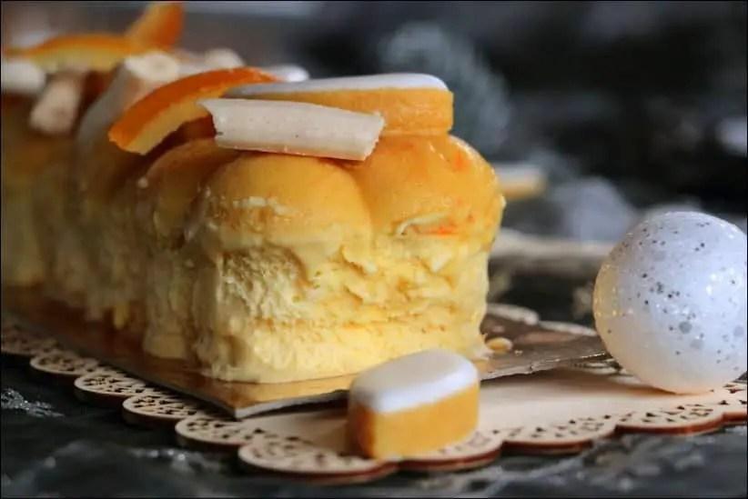 buche glacee meringue orange