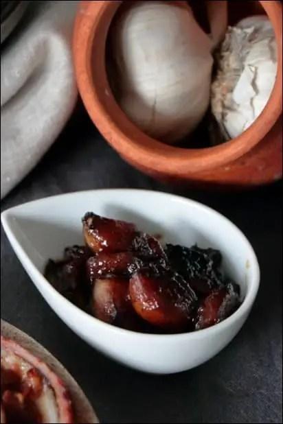 ail caramel vinaigre balsamique
