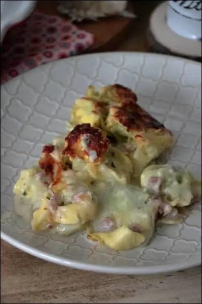 gratin de tortellini jambon et crème