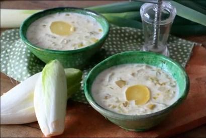 soupe endives poireaux et lait