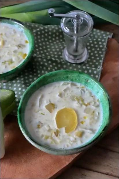 soupe endives poireaux lait