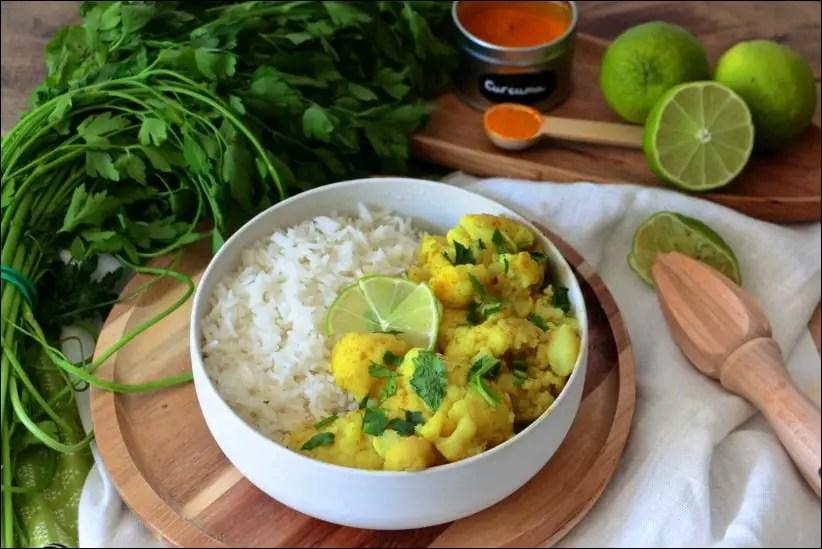 curry chou fleur coco vegetarien
