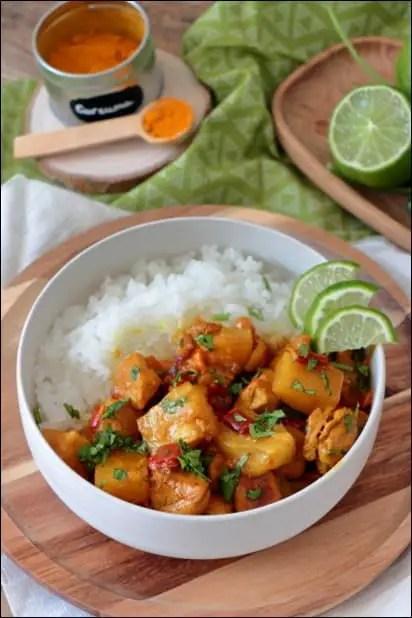 poulet curry a la creme de coco