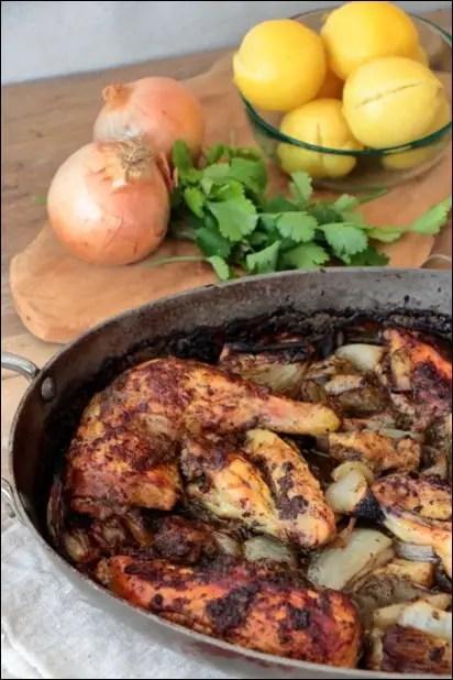 poulet citron confit a la marocaine