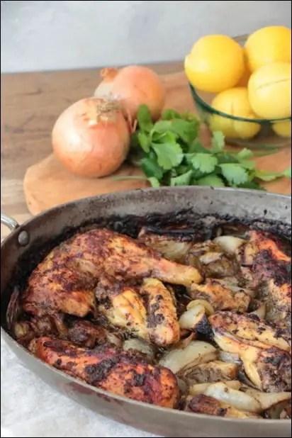 poulet citron confit coriandre ras el hanout