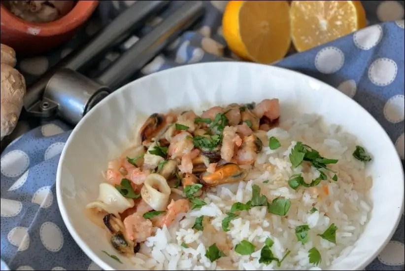 crevettes et moules ail gingembre