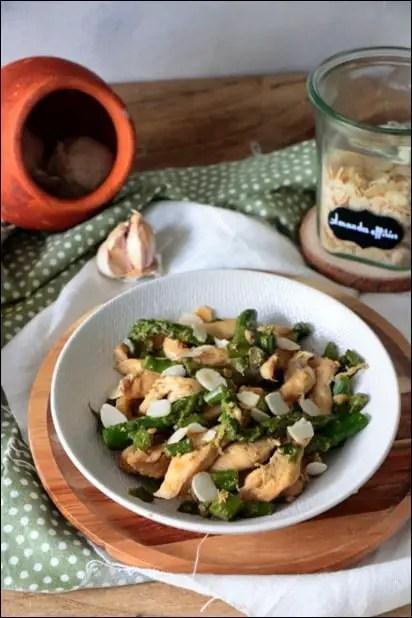 poulet asperge sauce soja