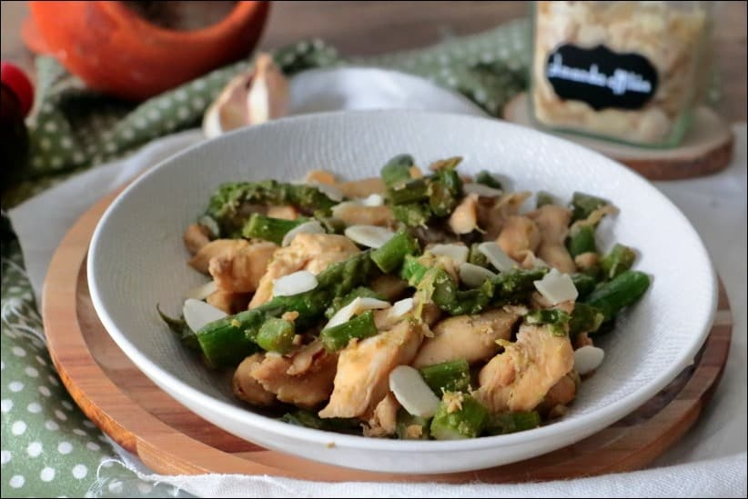 poelee asperges vertes et poulet
