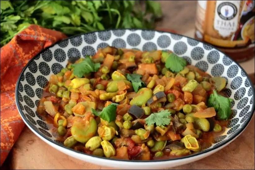 curry végétarien petit pois