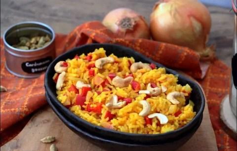 riz coco au poivron et noix de cajou