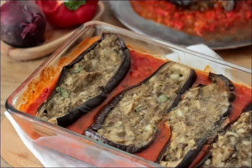 aubergines farcies à la bonifacienne au four