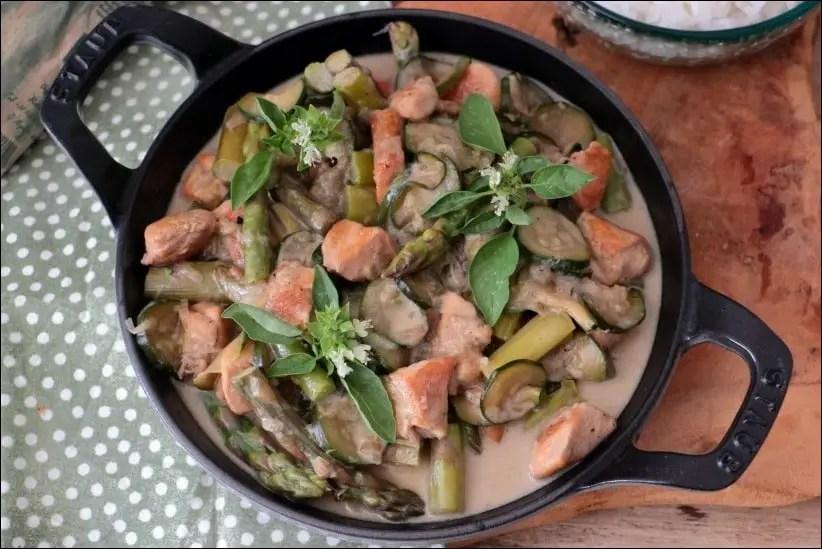 poulet courgette asperges vertes