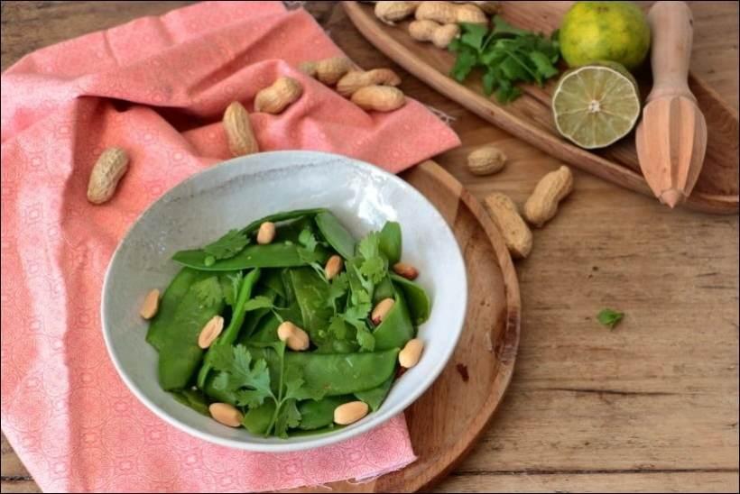 salade pois gourmands thaï