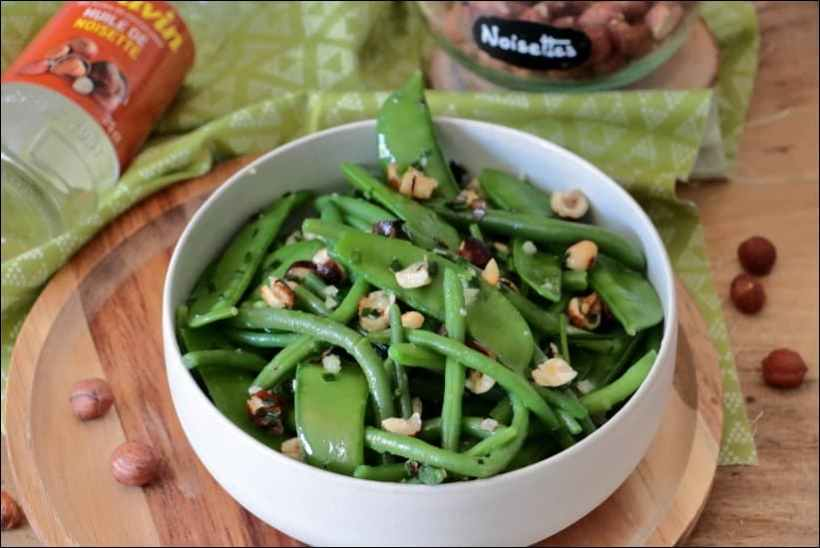 salade haricots verts pois gourmands