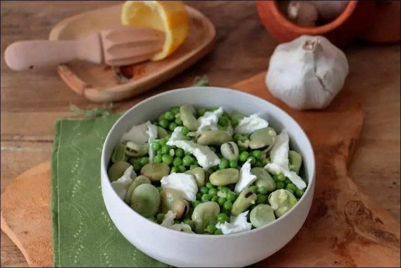 salade de petit pois surgelés