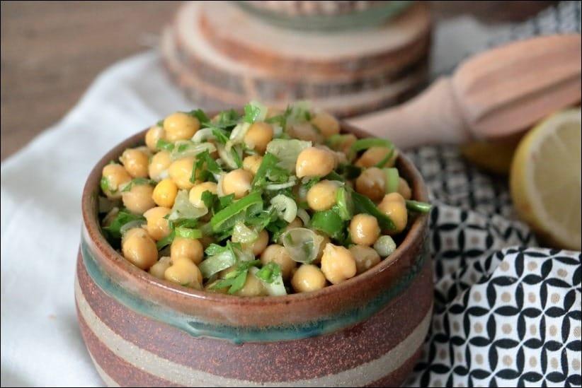 salade pois chiches persil cumin