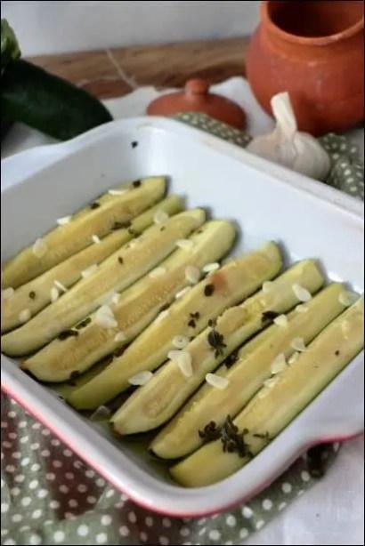 courgettes cuites à l'étuvée